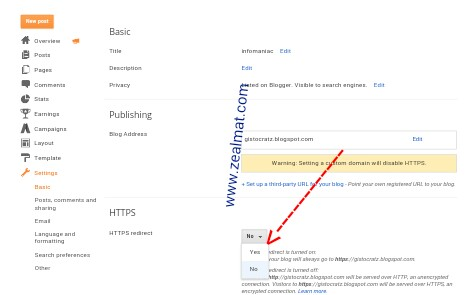 How To Enable HTTPS to Secure Your BlogSpot Blog 15
